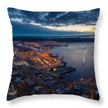West Seattle Water Taxi Throw Pillow
