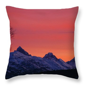 West Side Teton Sunrise Throw Pillow by Raymond Salani III