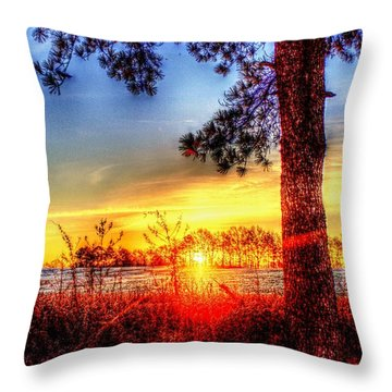 West Tennessee Sunrise Throw Pillow