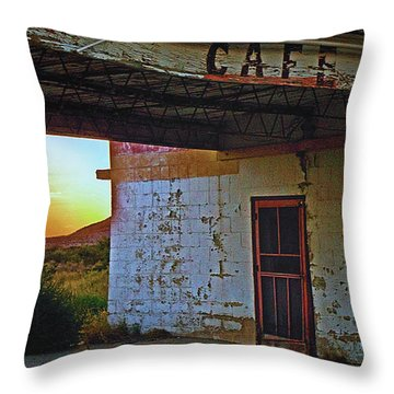 West Texas Cafe Throw Pillow by Brian Kerls