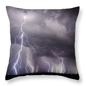 West Texas Light Show Throw Pillow
