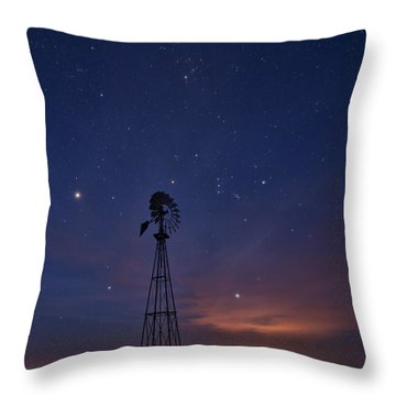 West Texas Sky Throw Pillow by Melany Sarafis