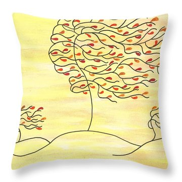 West Texas Wind Fall Throw Pillow by Susie WEBER