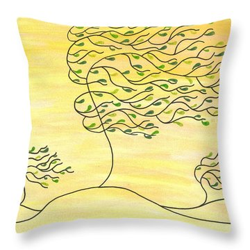 West Texas Wind Spring Throw Pillow by Susie WEBER
