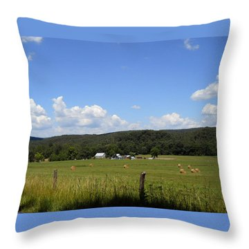 Throw Pillow featuring the photograph West Virginia Farm by Dorothy Maier