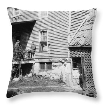 West Virginia Home, 1921 Throw Pillow