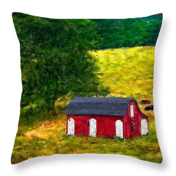 West Virginia Impasto Throw Pillow by Steve Harrington
