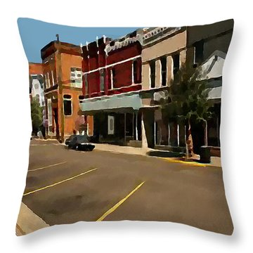 Throw Pillow featuring the painting West Virginia by Jann Paxton