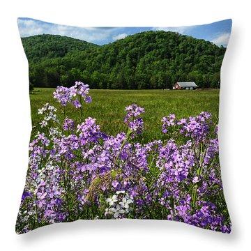 West Virginia Serenity  Throw Pillow by Thomas R Fletcher