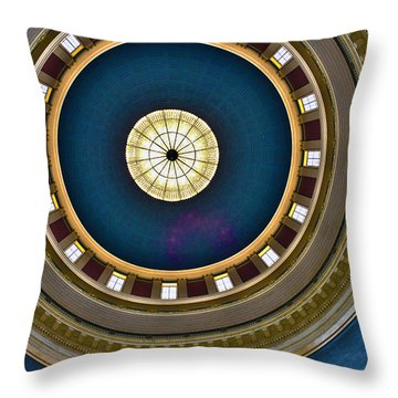 West Virginia State Capital Dome Hdr Throw Pillow