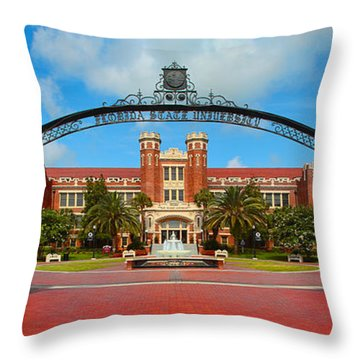 Westcott Gateway Arch - Fsu Throw Pillow