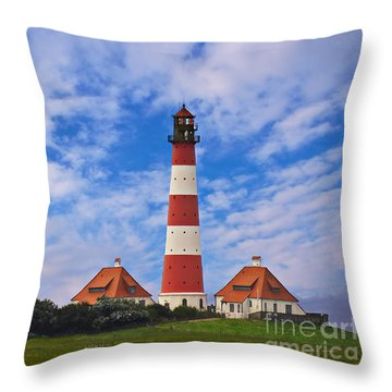 Westerhever Lighthouse No 2 Throw Pillow