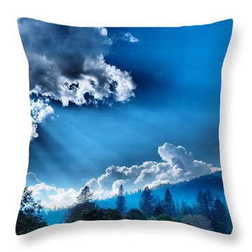 Westerly Clouds Throw Pillow