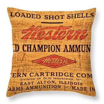 Western Ammunition Box Throw Pillow