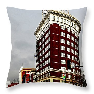 Western Auto Building Throw Pillow