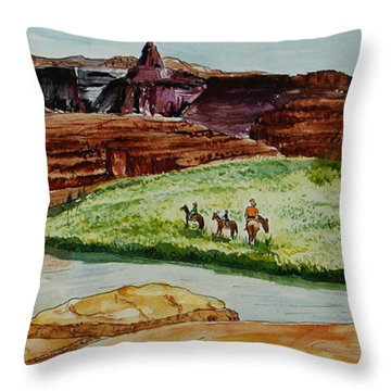 Western Canyons Throw Pillow