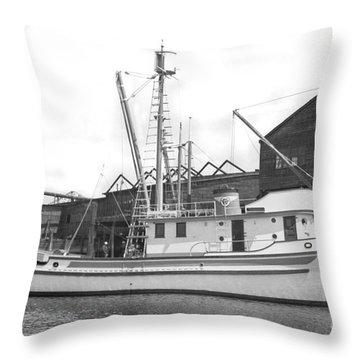 Western Flyer Purse Seiner Tacoma Washington State March 1937 Throw Pillow