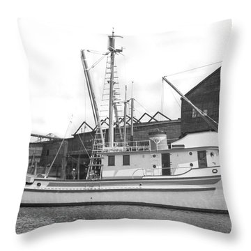 Western Flyer Purse Seiner Tacoma Washington State March 1937 Throw Pillow