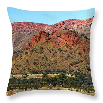 Western Macdonnell Ranges Throw Pillow