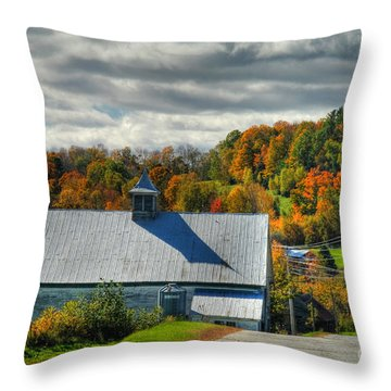 Western Maine Barn Throw Pillow