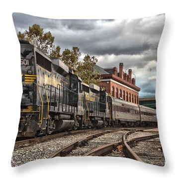 Western Maryland Scenic Railroad Throw Pillow by Jeannette Hunt