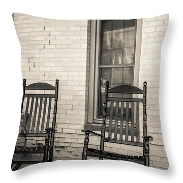 Western Rocking Chairs Throw Pillow