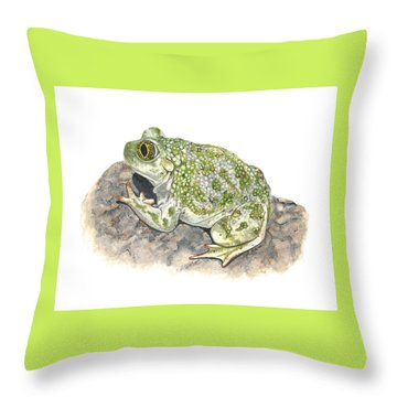 Western Spadefoot Throw Pillow by Cindy Hitchcock