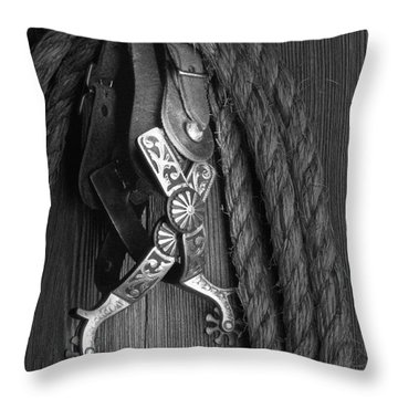 Western Spurs Throw Pillow