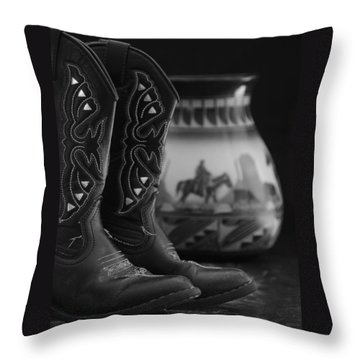 Western Still Life 2 Throw Pillow by Kenny Francis