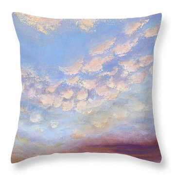 Throw Pillow featuring the painting Western Sunset by Margaret Bobb
