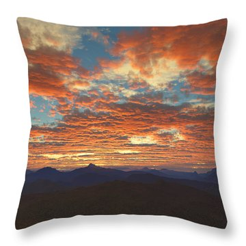 Throw Pillow featuring the digital art Western Sunset by Mark Greenberg
