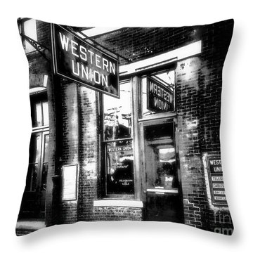 Western Union Redux Throw Pillow by Cris Hayes