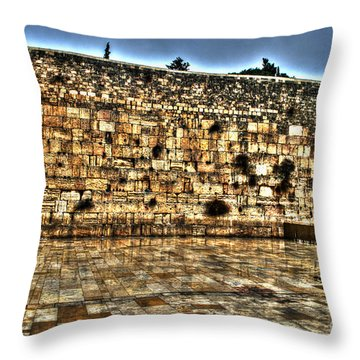 Throw Pillow featuring the photograph Western Wall In Israel by Doc Braham