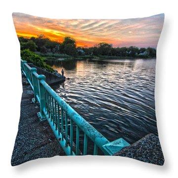 Westhampton-quogue Bridge Throw Pillow