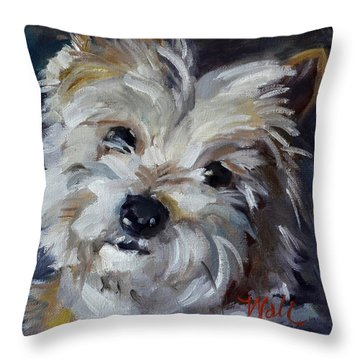 Westie Mix Throw Pillow