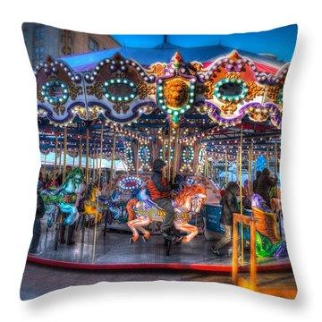 Westlake Carousel Throw Pillow