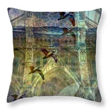 Westminster Cathedral Throw Pillow