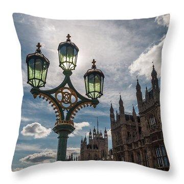 Throw Pillow featuring the photograph Westminster by Matt Malloy