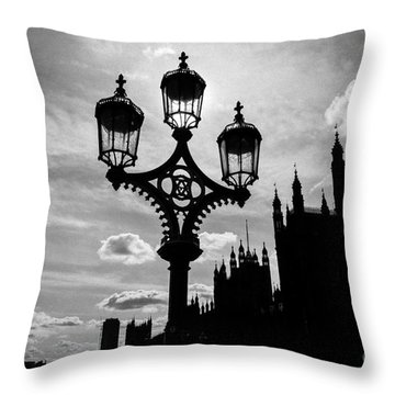 Throw Pillow featuring the photograph Westminster Silhouette by Matt Malloy