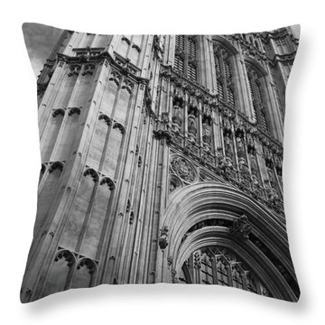 Westminter Abbey Throw Pillow