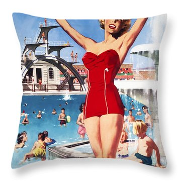 Weston Super-mare Throw Pillow