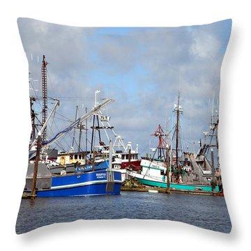 Westport Fishing Boats 2 Throw Pillow