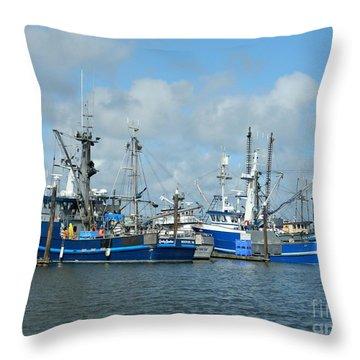 Westport Fishing Boats Throw Pillow