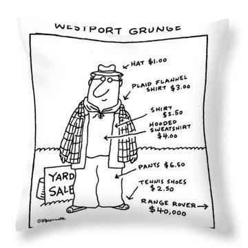 Westport Grunge Throw Pillow