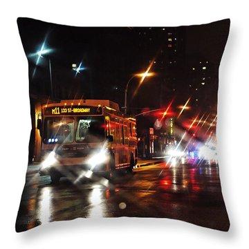 Wet City 4 Throw Pillow by Sarah Loft