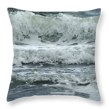Throw Pillow featuring the photograph Wet Element by Randi Grace Nilsberg