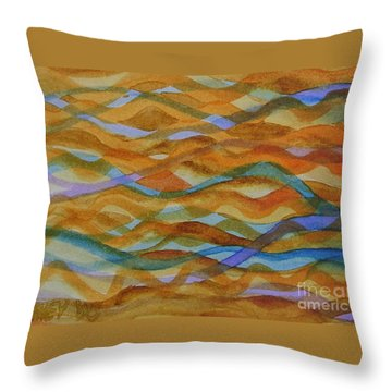 Wet Hair Throw Pillow