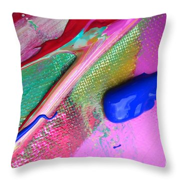 Wet Paint 31 Throw Pillow