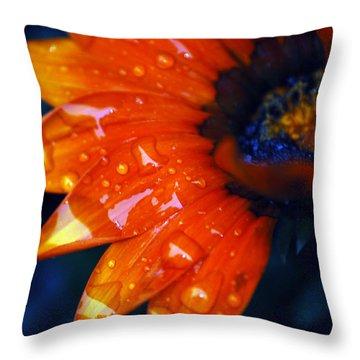 Wet Petals Throw Pillow