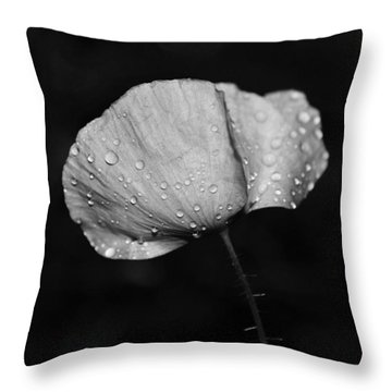 Wet Poppy  Throw Pillow